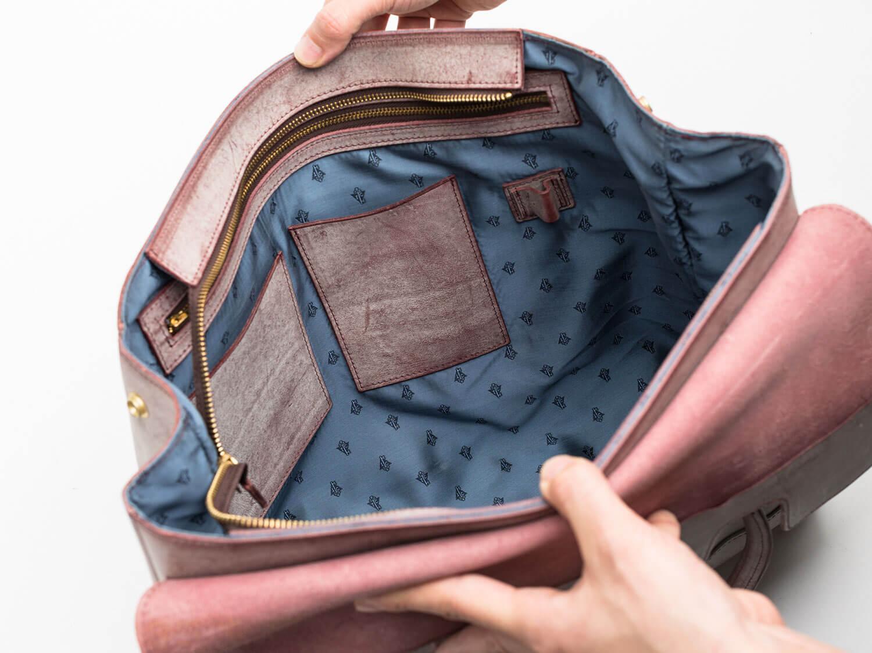フラップトートバッグ 内装写真